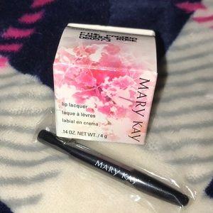 NIB MaryKay lip Lacquer in Pink Pagoda & Lip Brush